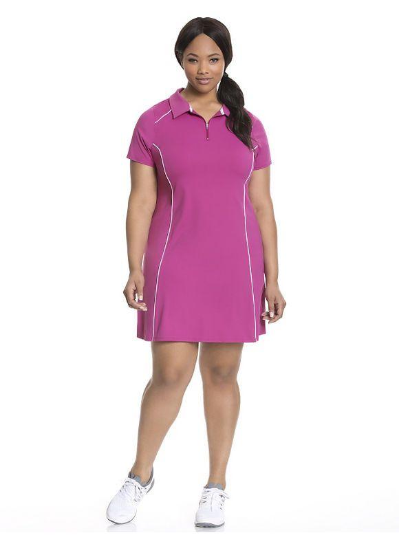 Plus Size Cooling Polo Tennis Dress Lane Bryant Womens Size 1416