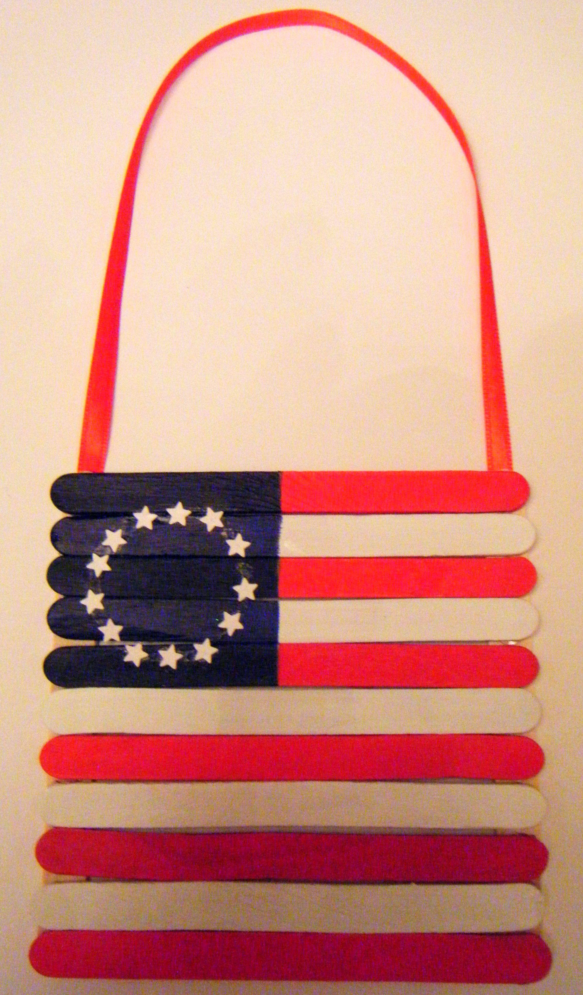 Betsy Ross Craft Stick Flag