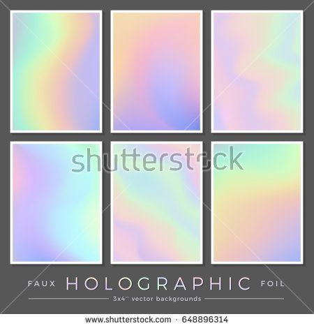 Hologram Backgrounds Set Of Six  X   Realistic Creative Faux