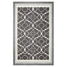 Kas Rugs Shabby Chic Rectangular Gray Transitional Indoor Outdoor Hand Hooked Area Rug