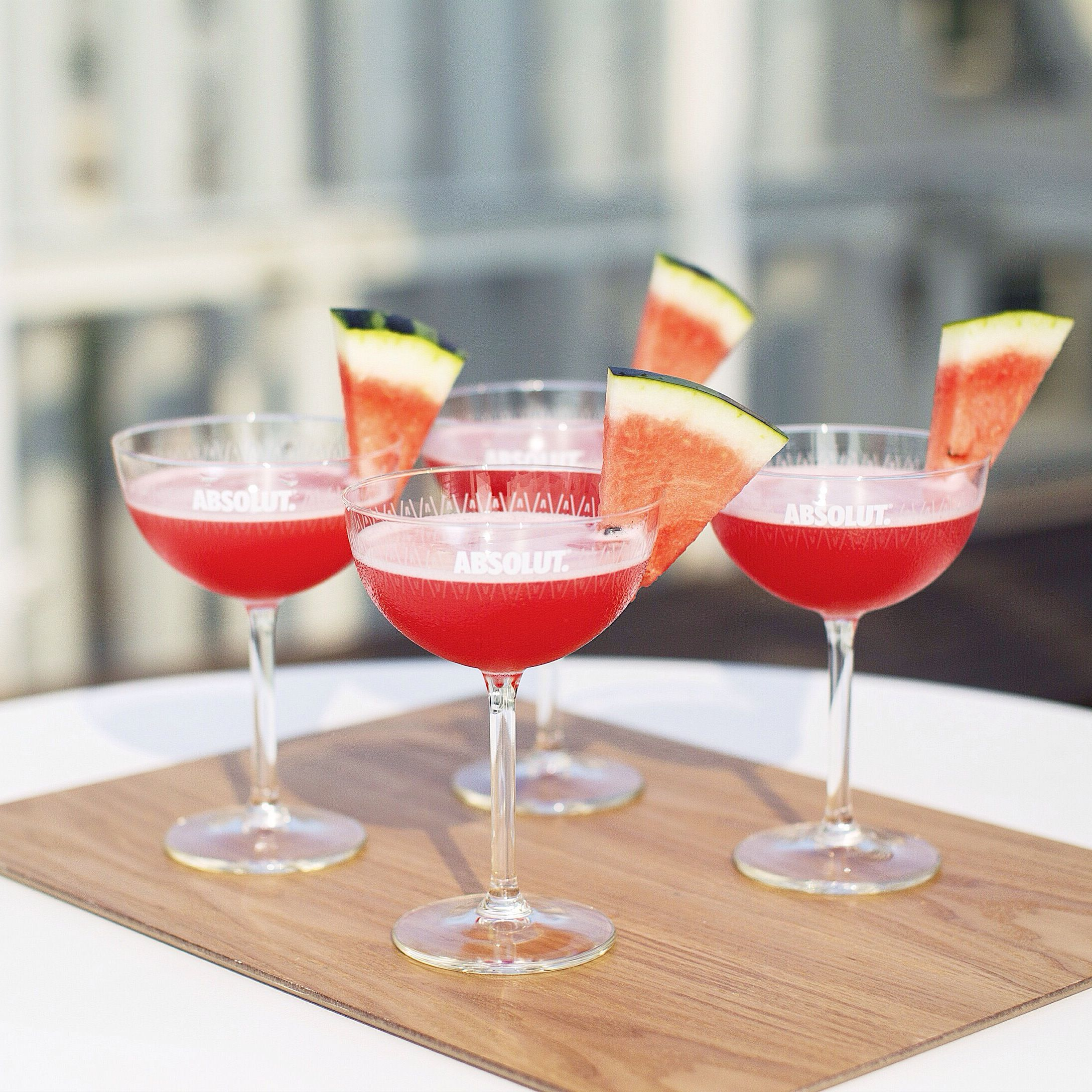 Cocktail recipes absolut watermelon martini 2 parts for Simple mix drinks with vodka