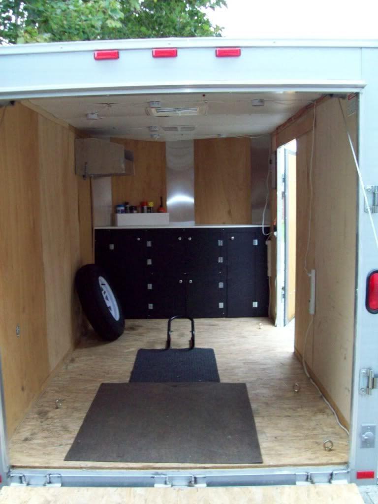 6x10 enclosed trailer w 24 v nose aluminum frame for A l interieur trailer