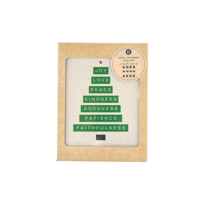 6 Weihnachtskarten Freude-Liebe-Frieden-Baum leere von cooljane ...