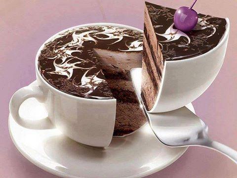 Coffee Cup Cakes Kahve fincan kek