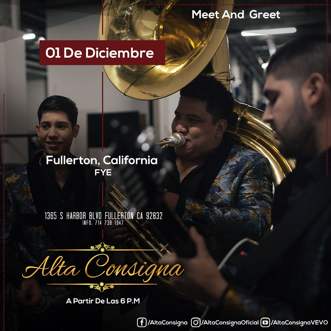 Meet and greet con alta consigna fullerton nationalcity clovis meet and greet con alta consigna fullerton nationalcity clovis mesquite chicago kristyandbryce Image collections