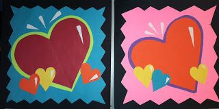 we heart art Burton Morris Pop Art Hearts valentine's day elementary art lesson project collage