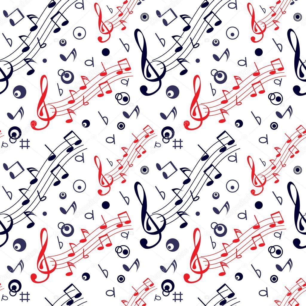Patron Sin Fisuras Con Notas Musicales Coloridas Sobre Fondo Blanco Notas Musicales Fondo Notas Musicales Notas Musicales De Colores