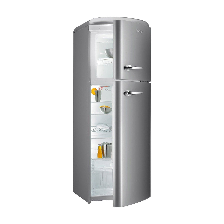 gorenje RF60309 173.7cm Retro Freestanding Inox Silver Fridge ... | {Kühlschrank retro gorenje 39}