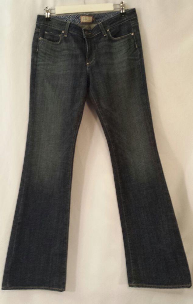 PAIGE PREMIUM DENIM HOLLYWOOD HILLS Cotton/Lycra Boot Cut Jeans Size 31 #PaigePremiumDenim #BootCut