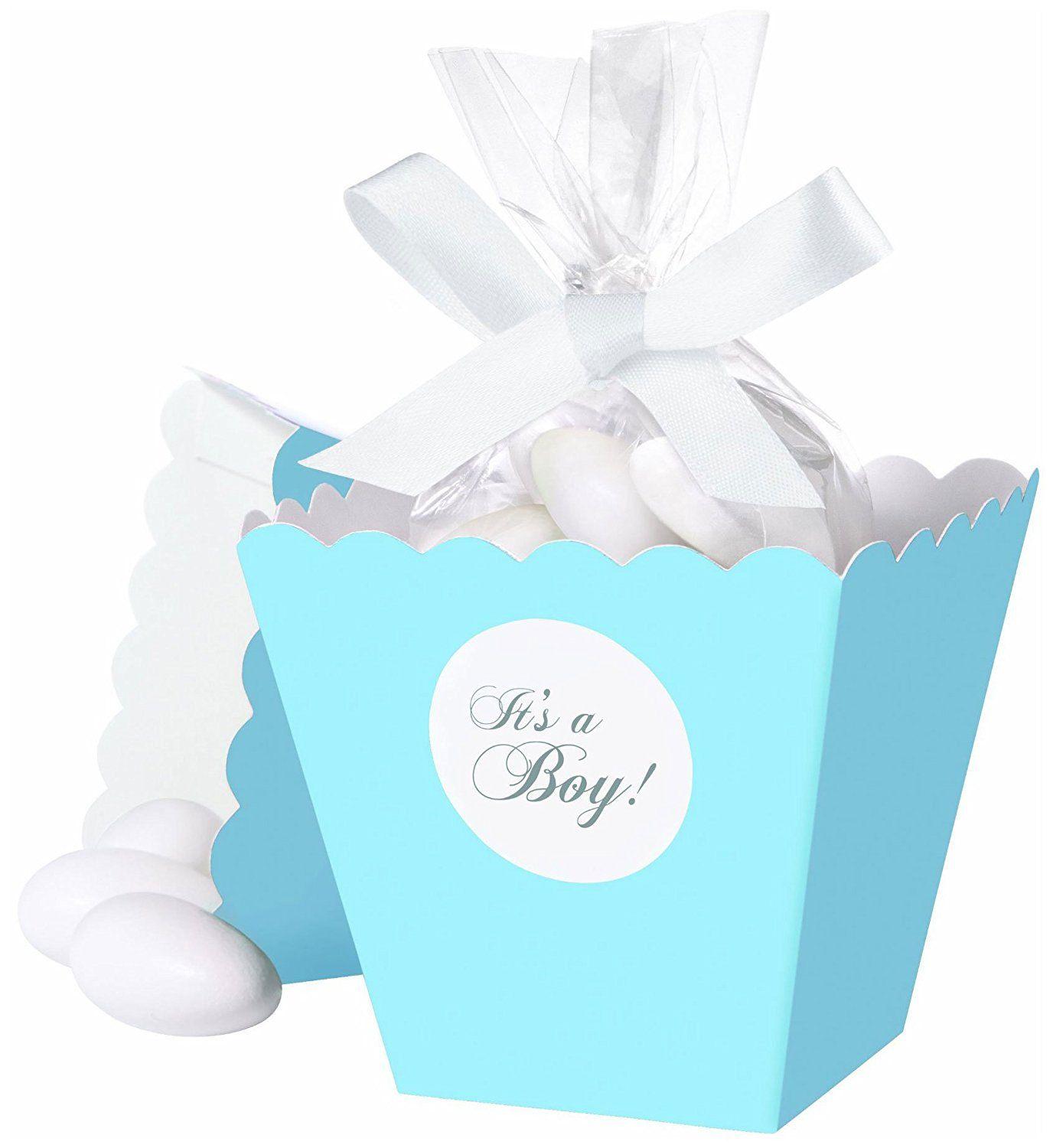 It s A Boy Popcorn Favor Boxes Teal Blue Ready to Pop Popcorn