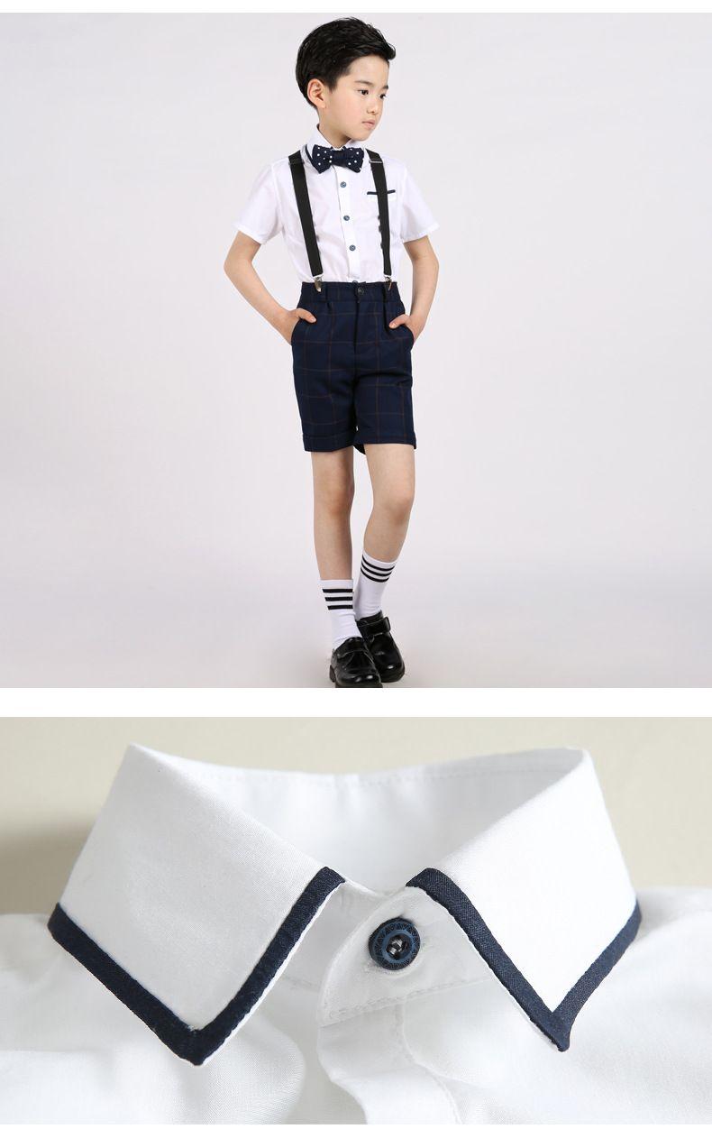 cf6033cc5305f 017新品・夏 男の子スーツ 子供服 男の子 ジュニア フォーマルスーツ サロペット オーバーオール 半袖ワイシャツ
