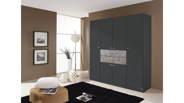 Perfect Kleiderschrank Landsberg Extra Schrank in grau metallic Stone cm