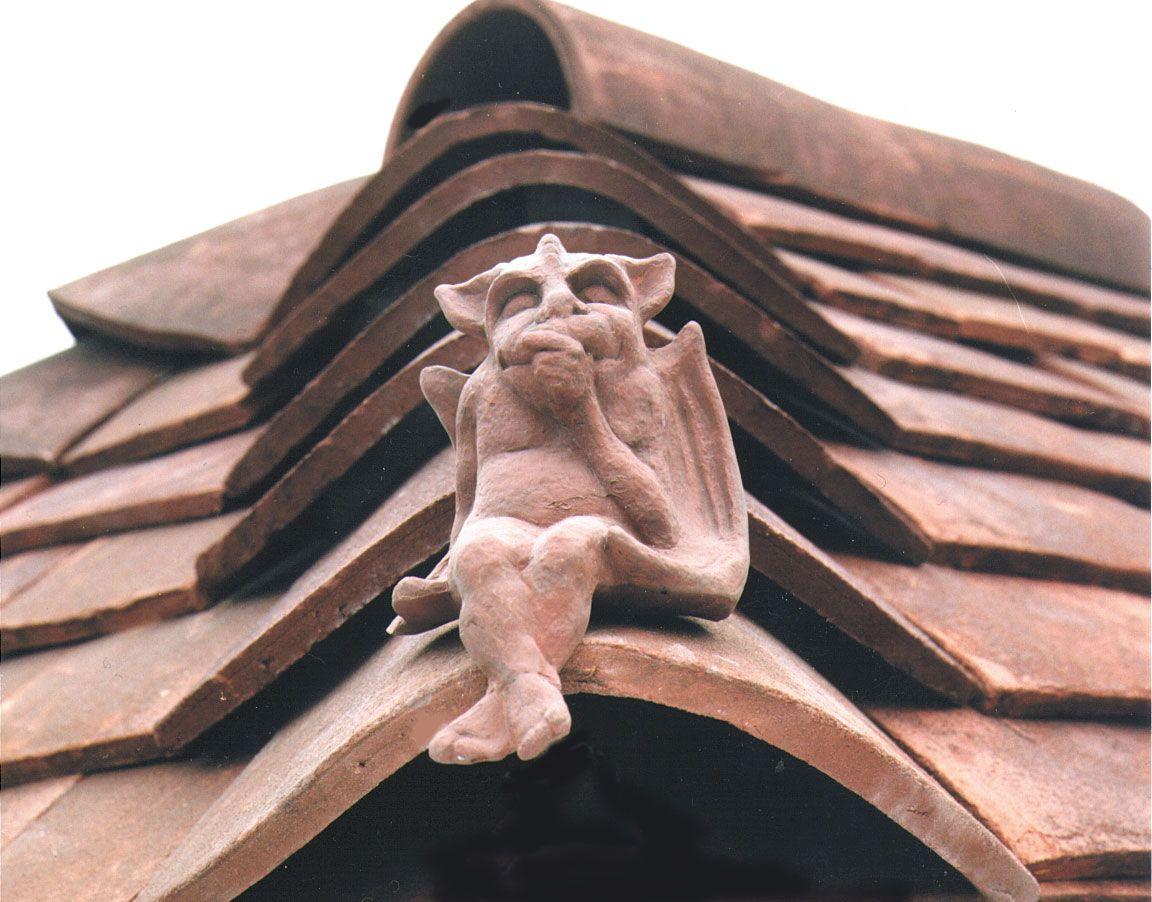 terracotta #imp hip tile #finials   keymer handmade clay roof