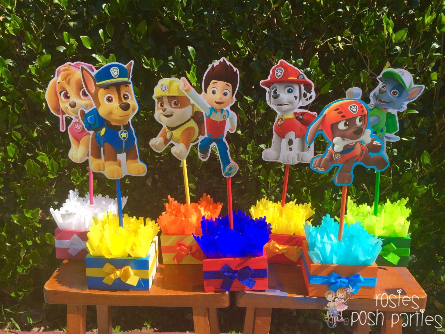 Paw Patrol Centerpieces for Birthday Candy Buffet or Favors Table ...