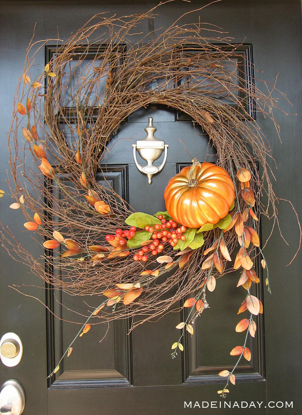 Autumn Wispy Wreath Tutorial #doubledoorwreaths