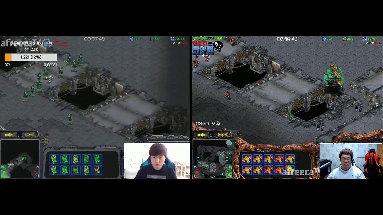 BW DUAL FPVOD] Flash vs Larva TvZ  Larva totally dominates
