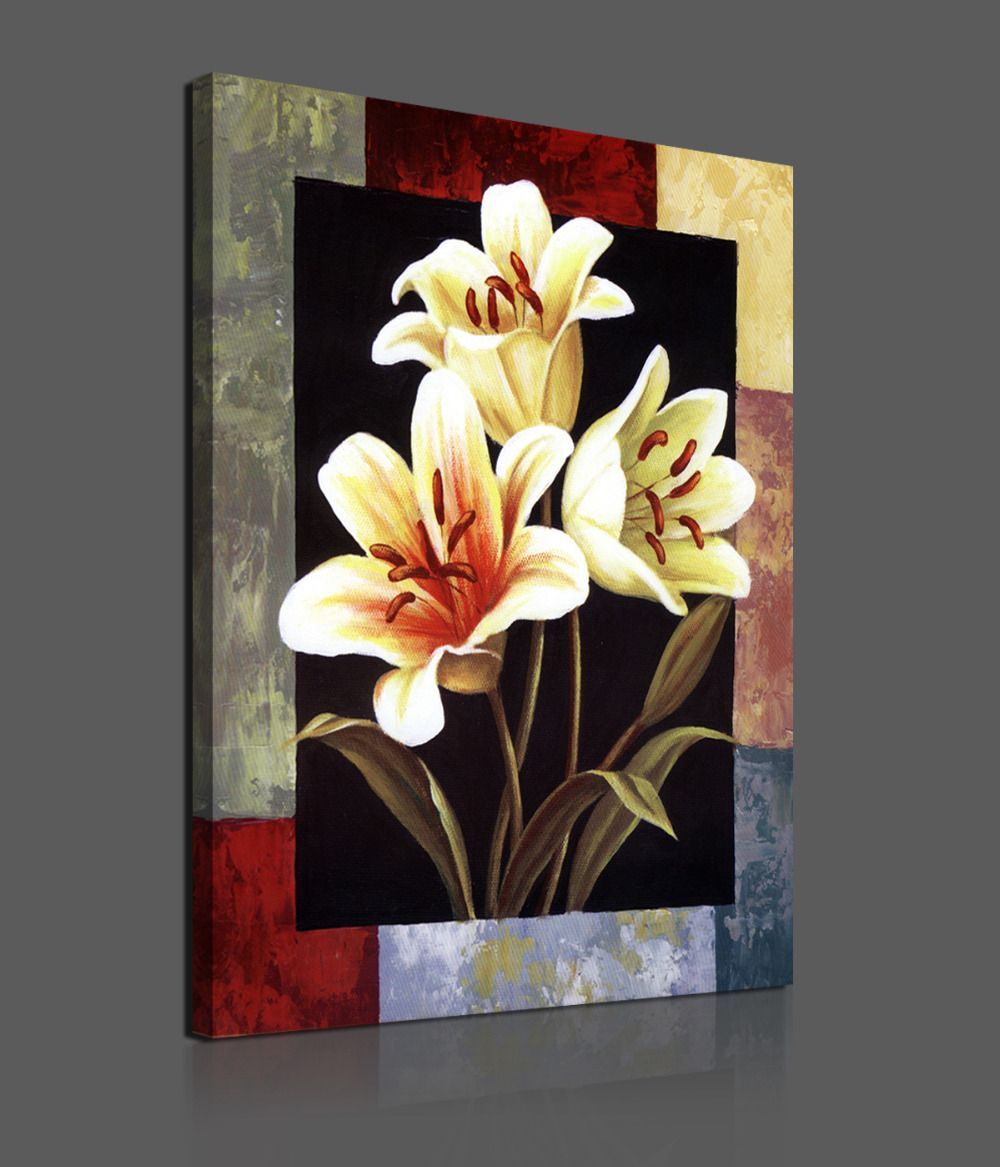 Wall Art Flowers Pictures : Flowers https walldecordeals pieces modern canvas