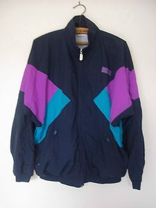 Vintage 80s 90s Shell Suit Track Top Rave Retro Festival Jacket Size ... c3180dae1c2