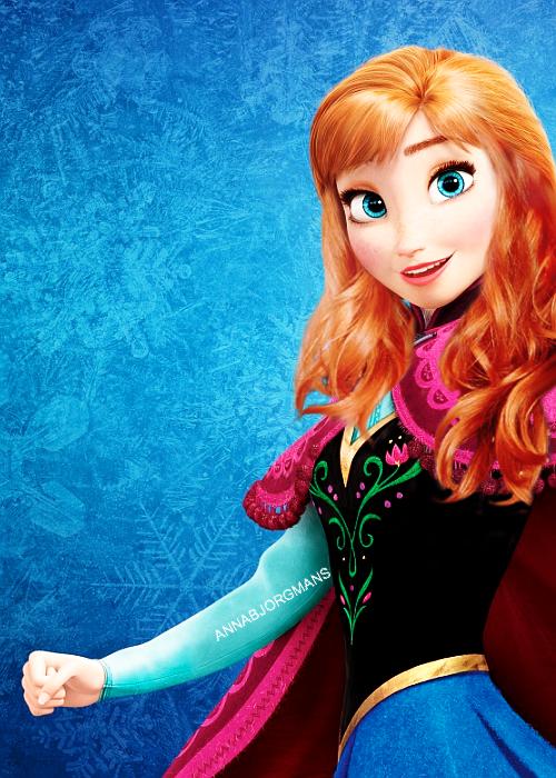Anna les cheveux lousses disney pinterest disney - Anna princesse des neiges ...