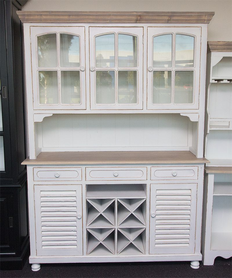 Wine Buffet Cabinet With Hutch
