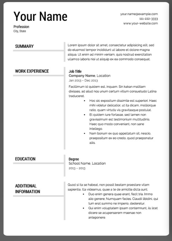 The 17 Best Resume Templates Best Resume Template Best Resume Resume Templates
