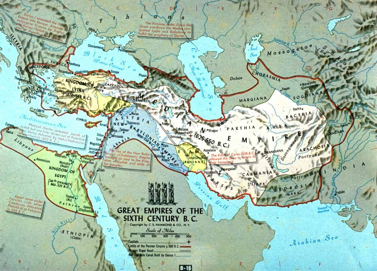 Persian Empire Map During King Cyrus The Great | Maps | Pinterest ...