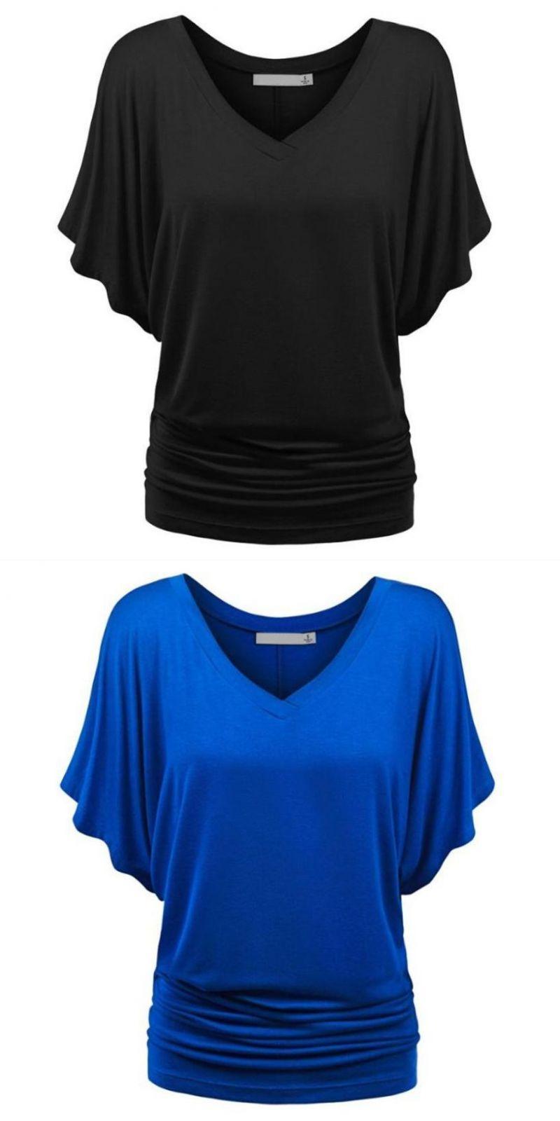 4a130b1b7c Summer tops for women 2018 fashion sexy women solid causel t-shirt top deep  v