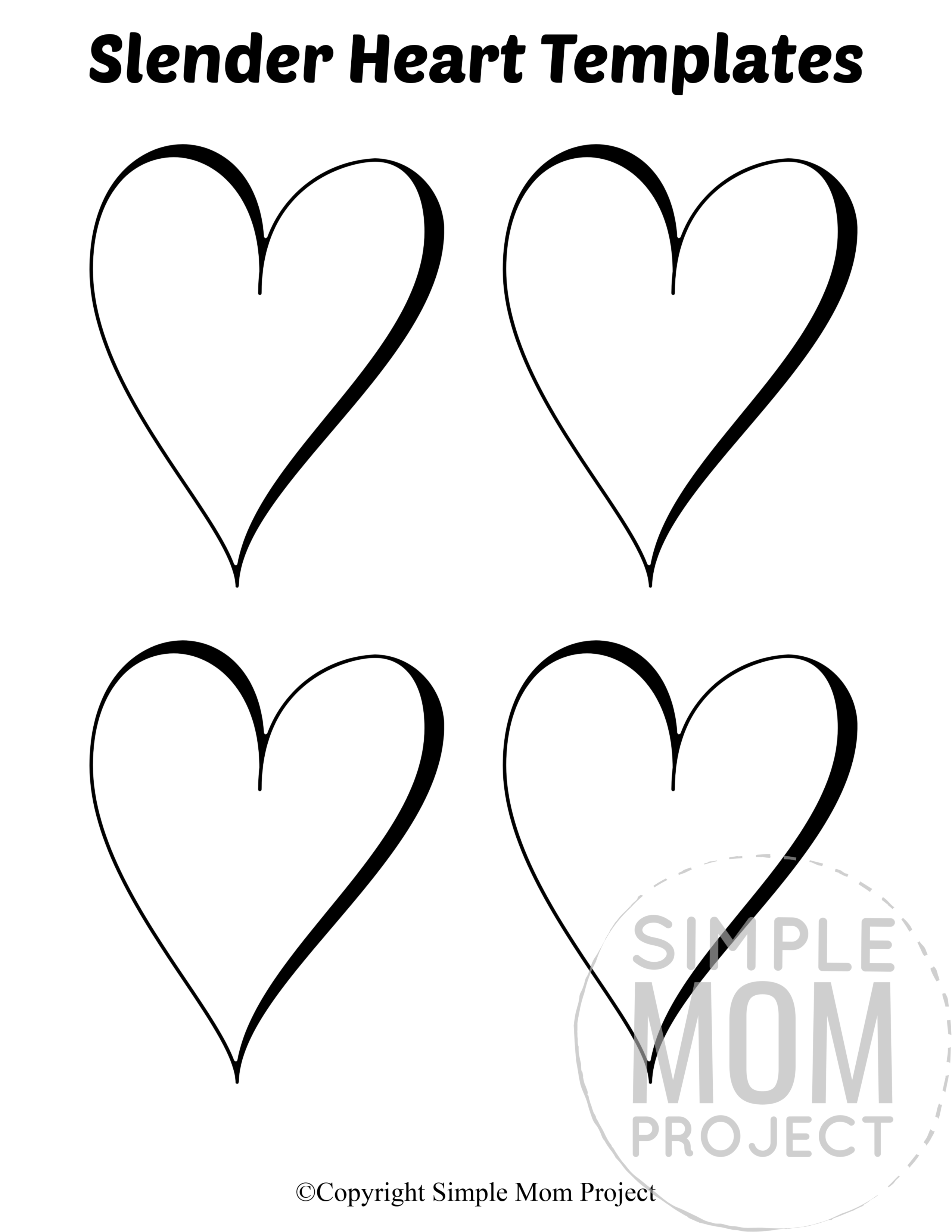 Free Printable Small Heart Shape Templates In