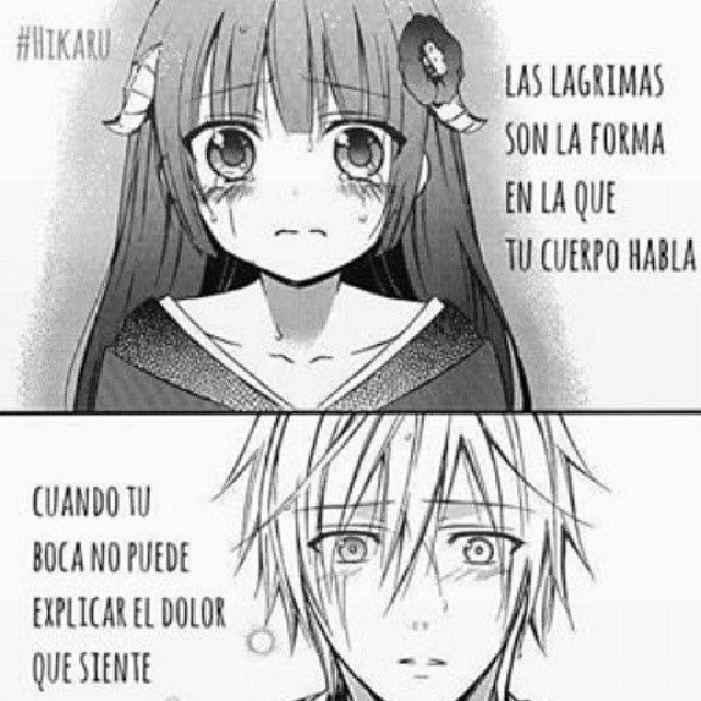 Dibujo De Anime Con Frases Triste De Enamorados