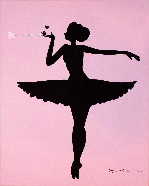 Printable Ballerina Silhouette Pink By Artbykylieshai On