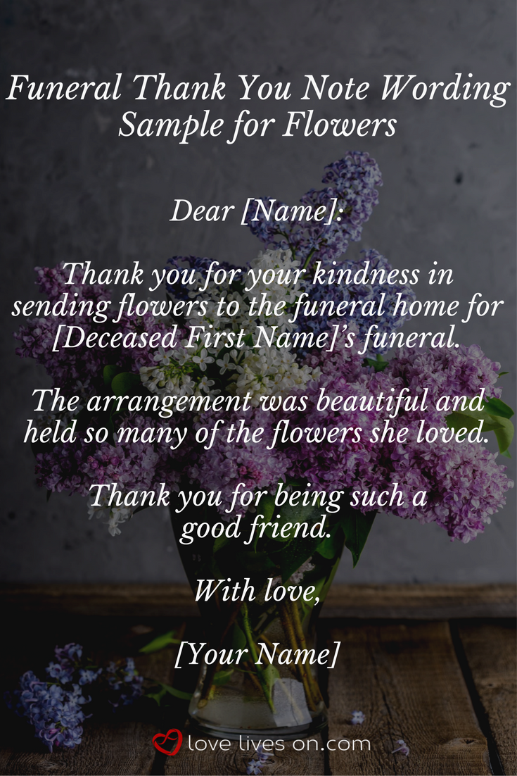 33 best funeral thank you cards funeral thank you cards sample wording for a funeral thank you note for flowers the perfect wording for someone izmirmasajfo