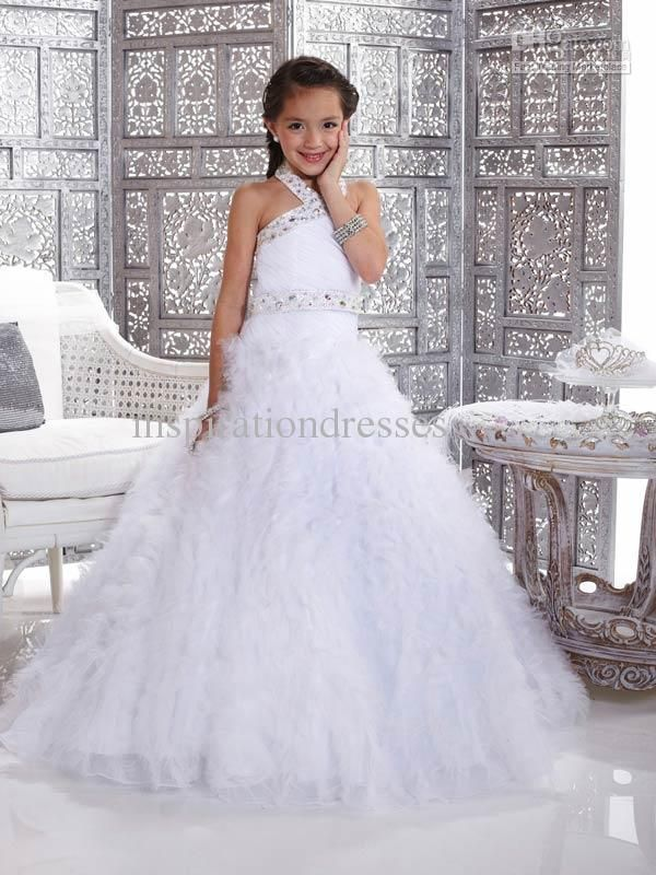 Kids Pageant Dresses Square Neckline Rhinestone And Beaded Girl's Pageant Dresses   Buy Wholesale On Line Direct from China