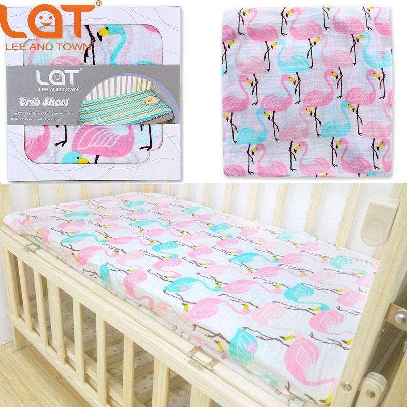 Lat 100 Cotton Muslin Soft Fitted Crib Sheet 28 X52 Standard