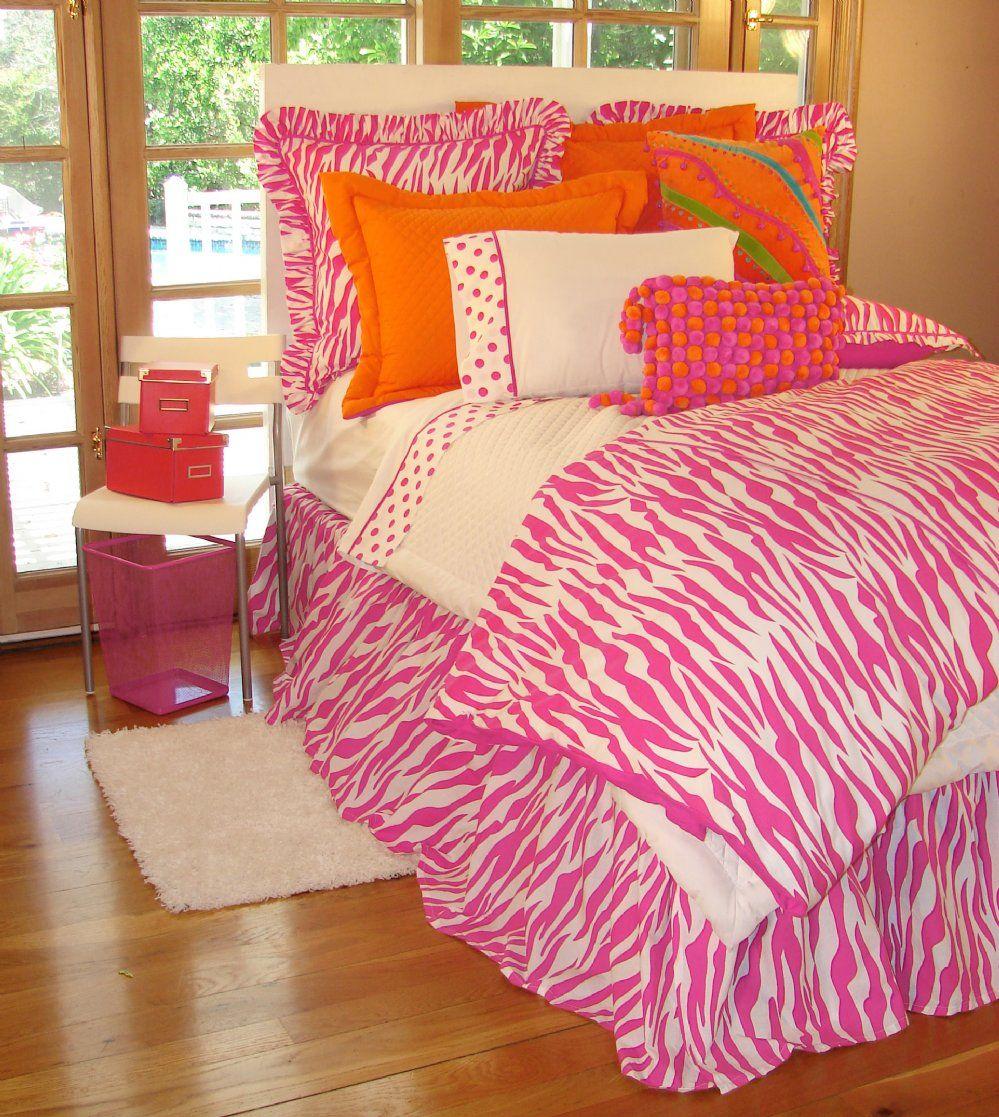 Bedroom Zebra Jarrah Bedroom Furniture Bedroom Bay Window Seat Bedroom Roof Ceiling Design: Hot Pink Zebra Print Teen Bedding Collection