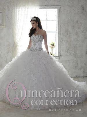 b111cbbcf propuestas de Vestidos de 15 Años Blancos
