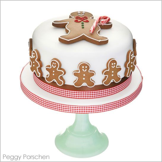 Adorable Gingerbread and Gingham Cake by Peggy Porschen