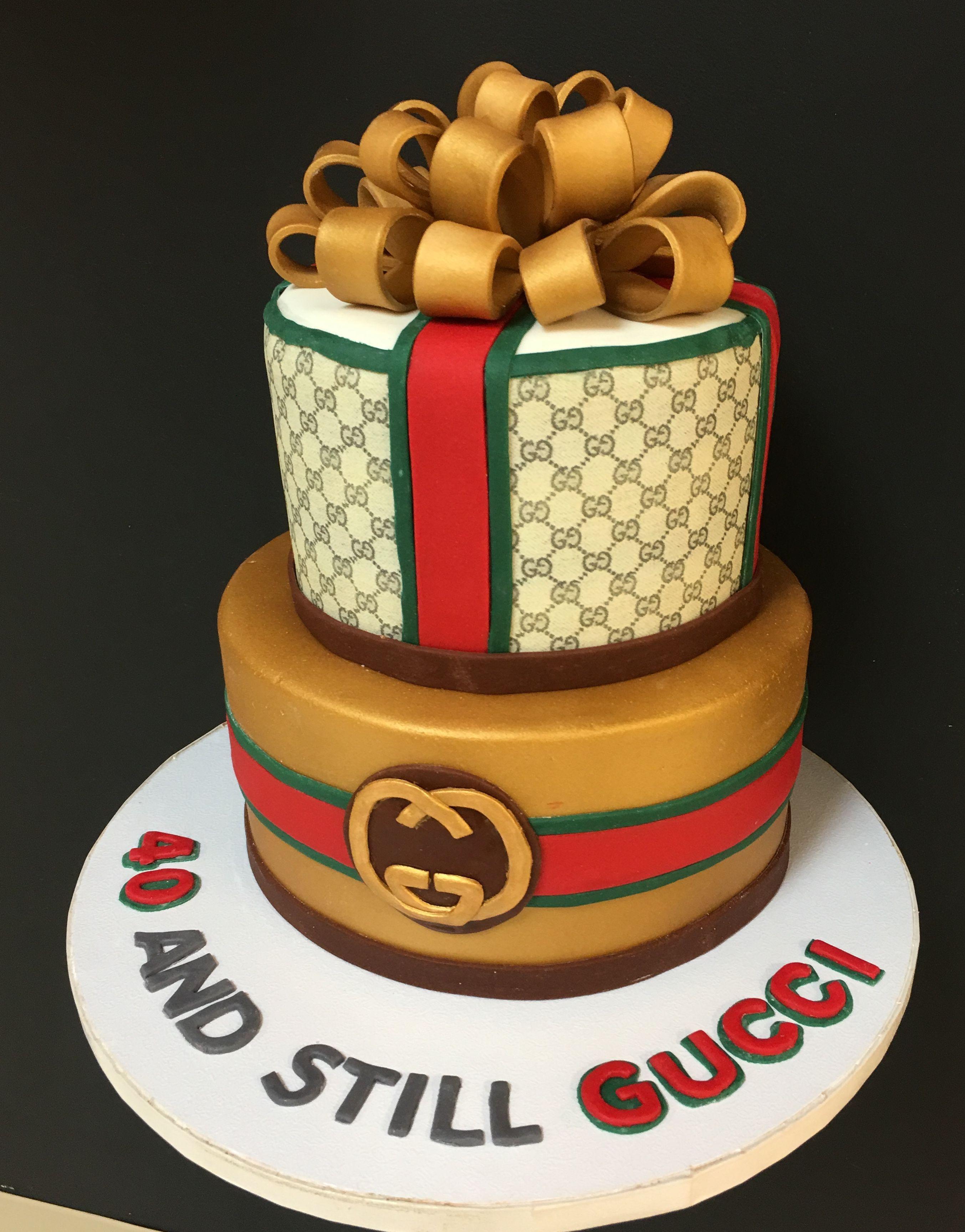 40 And Still Gucci Cake Birthday Designer Cake Fondant Cakes So Simple Cake Designs Birthday Fondant Cakes Cupcake Cakes