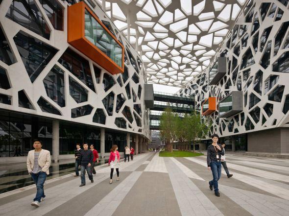 Nuevas Soluciones Para El Diseño De Los Espacios De Trabajo Cubierta Arquitectura Pieles Arquitectura Fachada Arquitectura