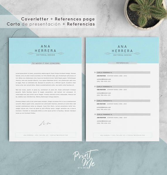 CV Template + Coverletter + References