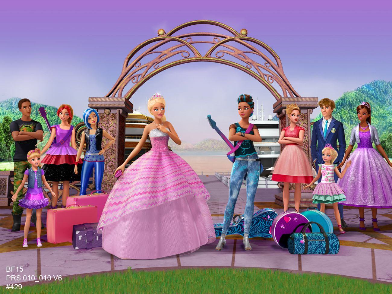 Barbie in Rockn Royals  Princess Courtney and Erika Juno