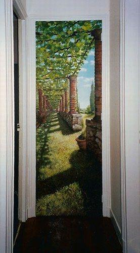 Mes peintures murales et trompe l\u0027oeil Art murals Pinterest - peinture porte et fenetre