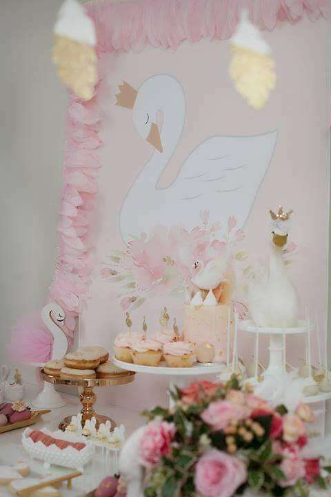 Swan Theme Birthday Party Ideas In 2019 Party ★ Party