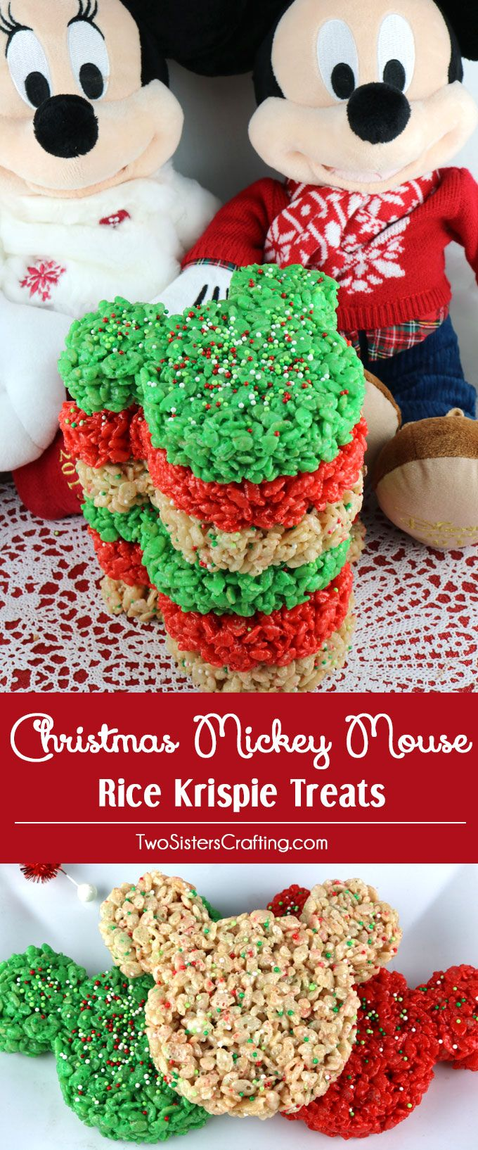 christmas mickey mouse rice krispie treats these colorful and festive christmas