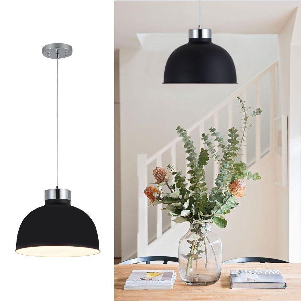 YUNJI Industrial Style 1-Light Pendant Light Adjustable Ceiling ...
