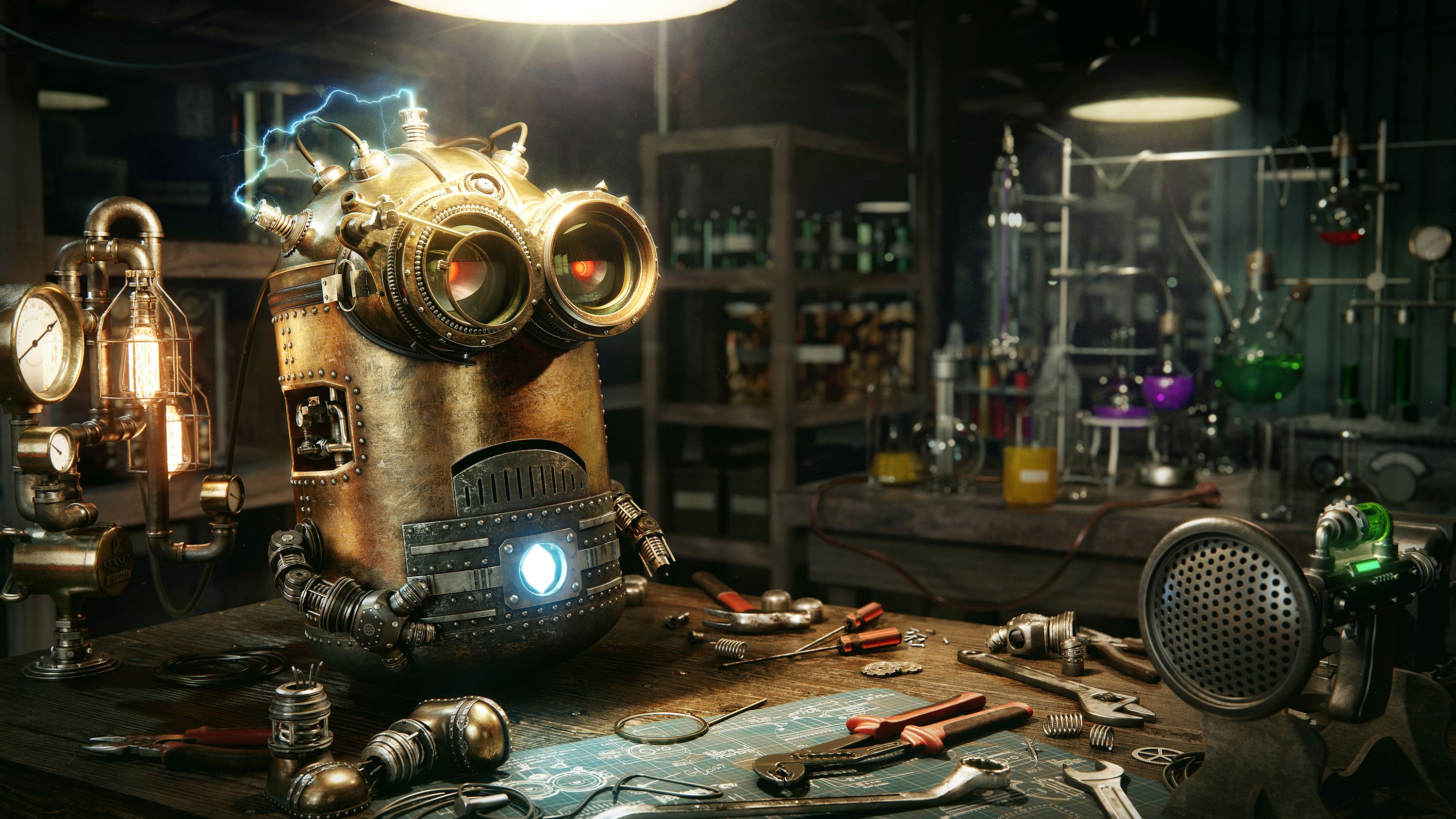 This Is Steampunk Minion Breakdown By Dmitriy Ten On Vimeo,