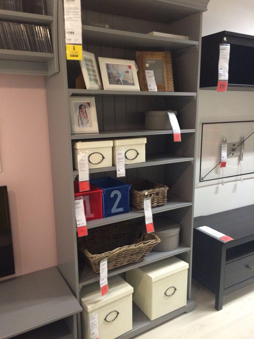 Ikea Liatorp Grey Bookcase 195 96x214cm My Room  # Muebles Ikea Serie Liatorp