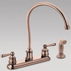 Moen Copper Finish 2 Handle Kitchen Hi Arc Faucet Free Copper