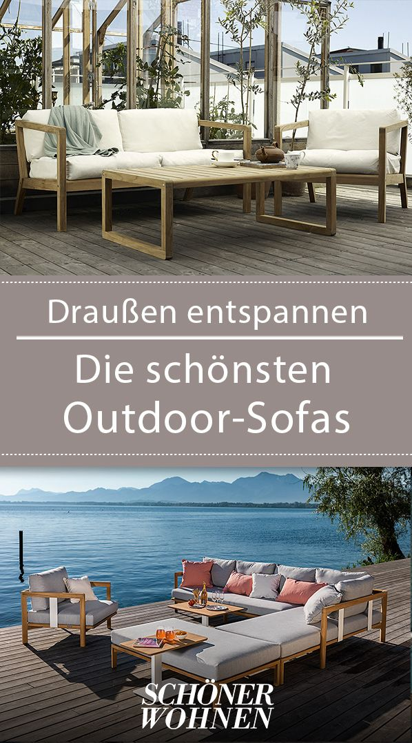 Outdoor-Sofas – draußen entspannen!