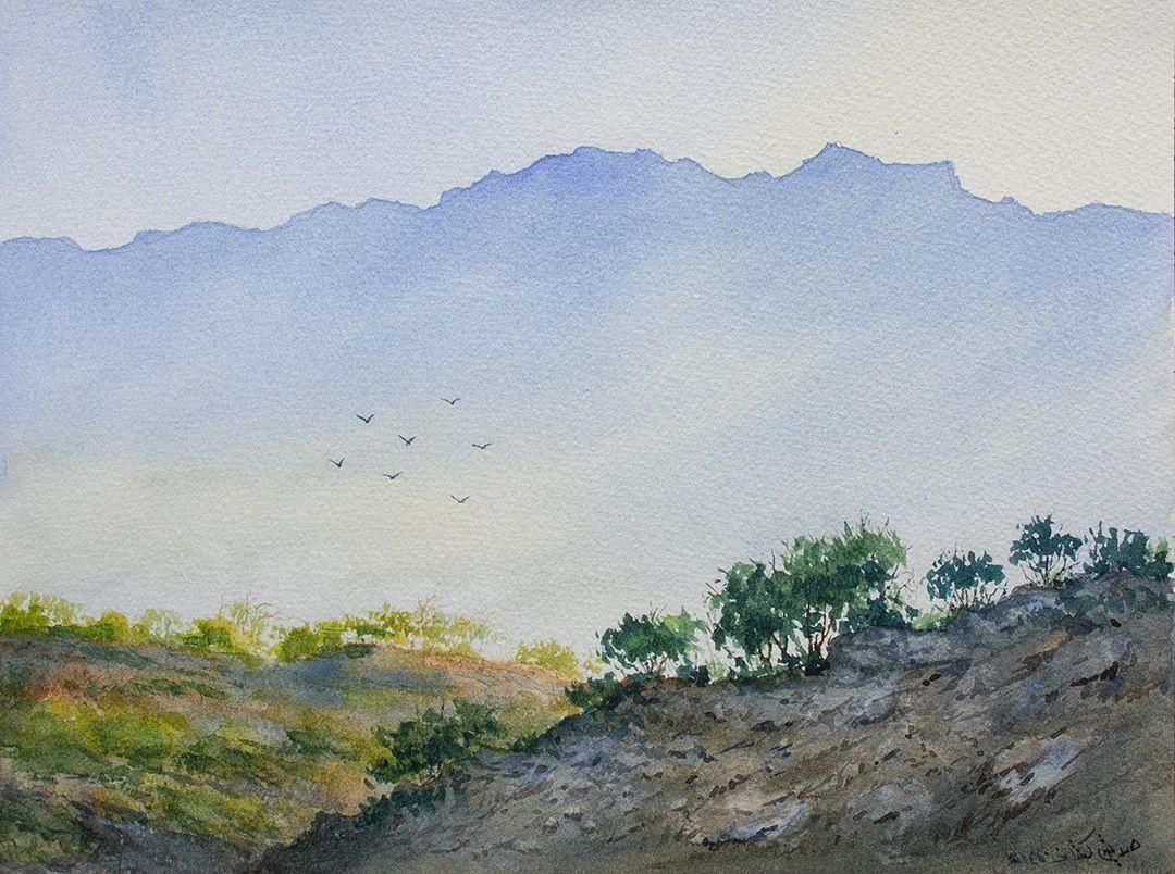 طبيعة من قنا ألوان مائية ألوان مائية ألوان رسم تلوين فن فنون تشكيلية الفن التشكيلي الرسم الطبيعة منظر طبيعي Watercolor Painting Art Impressioni