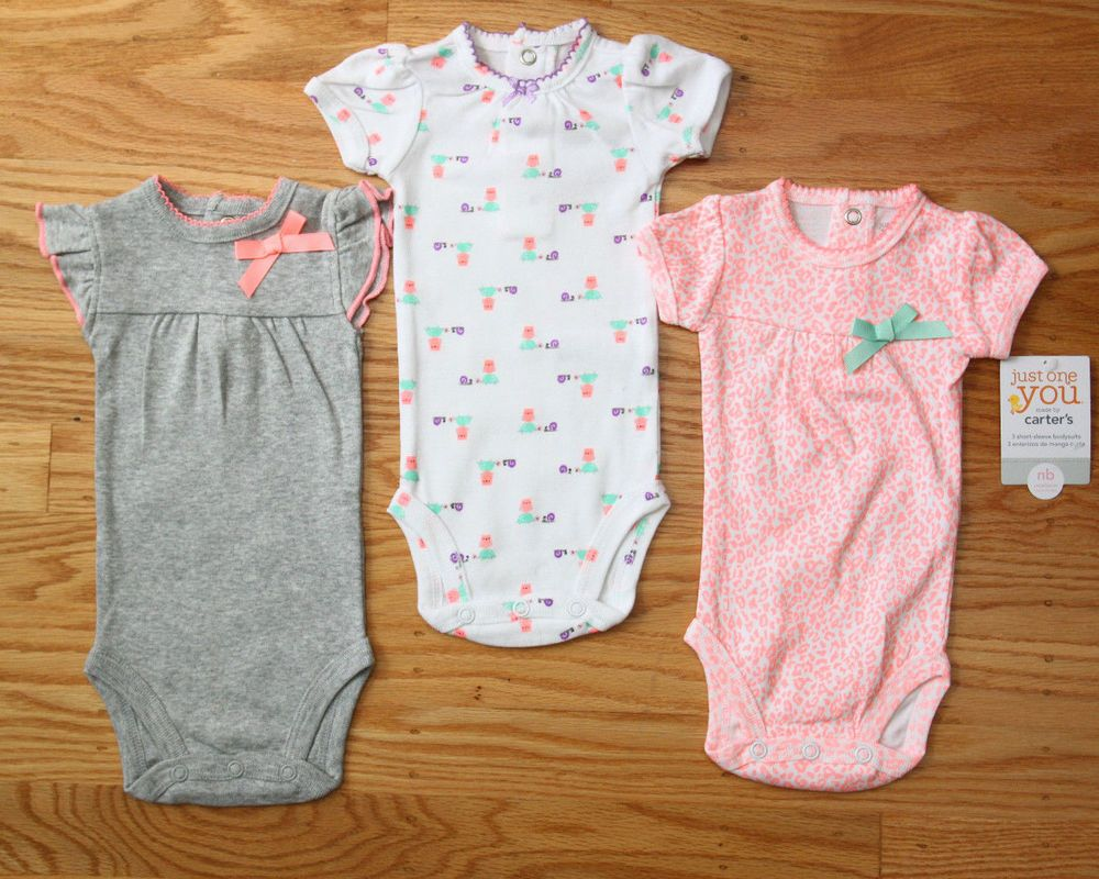 563732fb41 Carter s Just One You 3 pack Bodysuits~ Leopard Print~Snail